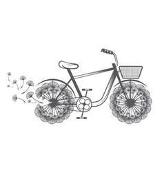 Concept bike with dandelion vector
