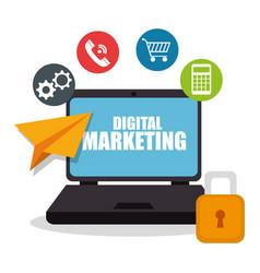 Digital marketing e-commerce icon vector
