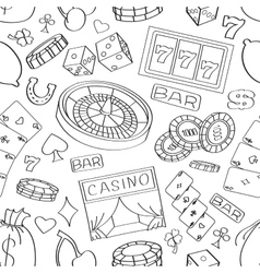 Doodle pattern casino vector image