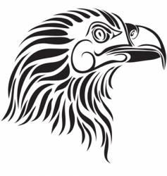 eagle profile vector image