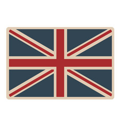 flag united kingdom classic british opaque icon vector image
