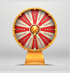 fortune wheel turning roulette 3d wheels lucky vector image