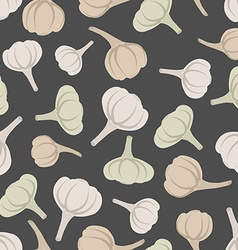 Garlic seamless pattern background garlic vector image