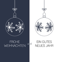 german christmas and new year greeting card vector image