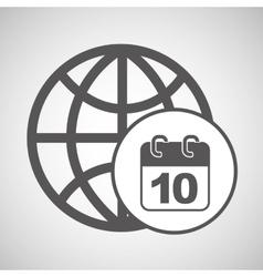 global digital calendar network design vector image