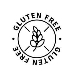 Gluten free simple icon modern design element on vector