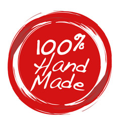 Handmade stamp for hand crafted product vector