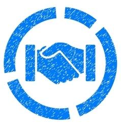 Handshake Diagram Grainy Texture Icon vector