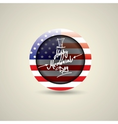 Happy Memorial Day round badge or sticker vector