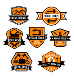 Hardware work tool isolated icons vector