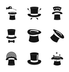 Healer icons set simple style vector