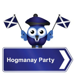 HOGMANAY PARTY SIGN vector image vector image