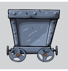 Iron mine cart vector