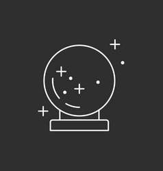 Magic sphere icon vector