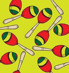 maracas pattern vector image