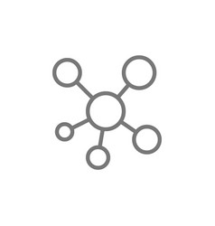 Network hub connection line icon vector