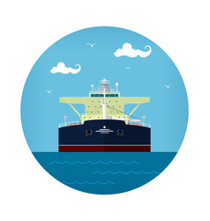oil tanker icon vector image