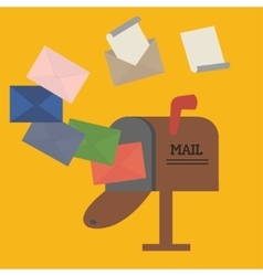 Open mailbox with envelope vector