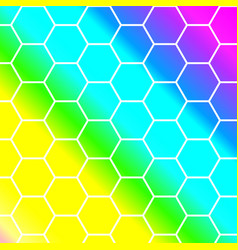 outline hexagon pattern background vector image