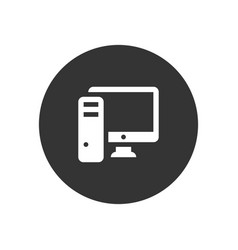 pc computer icon in modern style for web site and vector image