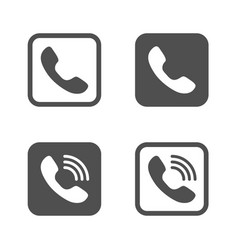 phones icons filled and outlined style vector image