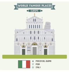 Piazza del Duomo Pisa vector