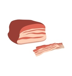 Piece of meat food vector