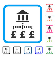 pound bank payments framed icon vector image