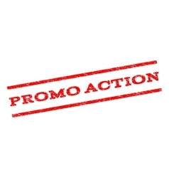 Promo action watermark stamp vector