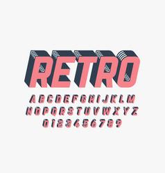 Retro style font design alphabet letters vector