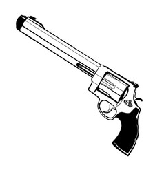 Revolver on white background for your web and vector