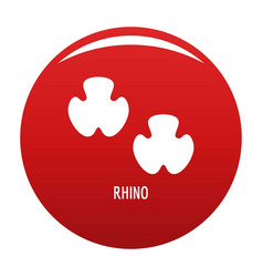 Rhino step icon red vector