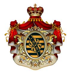 royal ermine mantle vector image