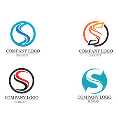 s logo and symbols template icons app vector image