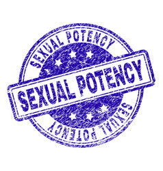 Scratched textured sexual potency stamp seal vector