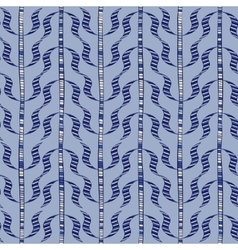 Seamless blue doodle sprigs vector image