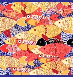 Seamless pattern colorful fish vector