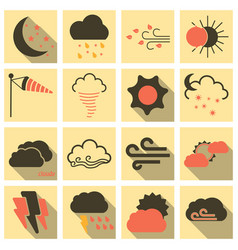 Set of weather beautiful and estetic icons on vector