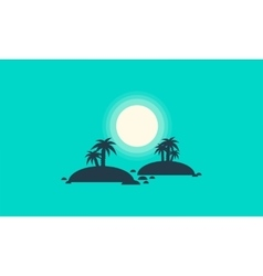 Silhouette of two islands scenery vector image