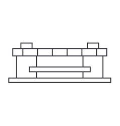 stadium thin line icon concept stadium linear vector image