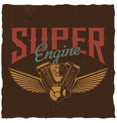 Super engine poster vector