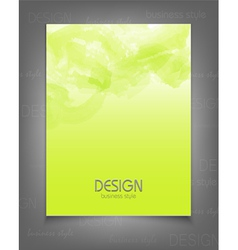 template for a business with a green strokes vector image
