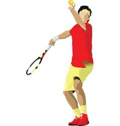 Tennis player vector