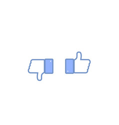 thumbs up and down social sign or icon vector image
