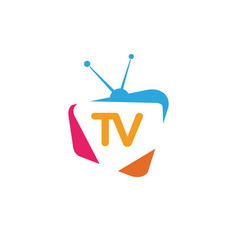tv icon logo design vector image