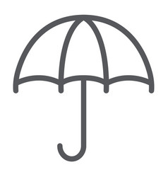 umbrella line icon weather and protection vector image