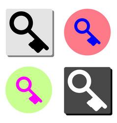 vintage key flat icon vector image