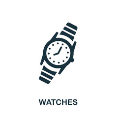 Watches icon simple element from jewelry vector