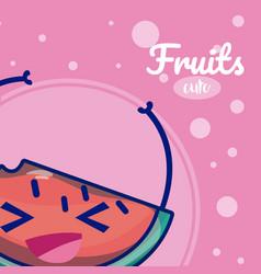 watermelon cute fruit cartoons vector image
