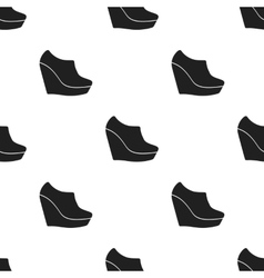 Wedge booties icon in black style isolated on vector